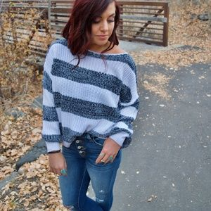 'JUST RIGHT' STRIPED SWEATER